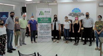 El HCD entregó un banner de difusión al Área Departamental de Salud de Rivadavia