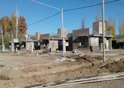 Continúa la construcción de viviendas del IPV en Rivadavia