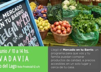 """""""El Mercado en tu Barrio"""" vuelve este viernes 23 de junio a Rivadavia."""