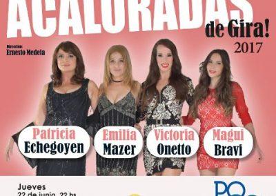 """Hoy se presenta """"Acaloradas"""" en el Teatro Bianchi."""