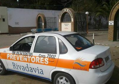 Preventores de Rivadavia trabajan intensamente por la seguridad .