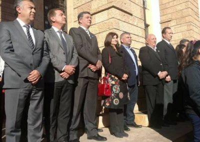 El Intendente Miguel Ángel Ronco participó de los actos provinciales.