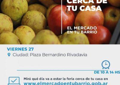 """""""Mercado En Tu Barrio"""" en Plaza departamental """"Bernardino Rivadavia"""""""