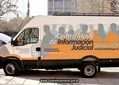 El móvil judicial visita Rivadavia