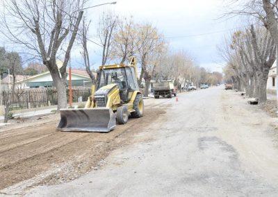 Avanza la obra de reasfaltado del distrito Medrano