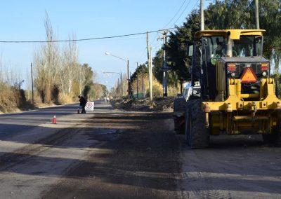 Comenzó la construcción de la ciclovía de calle falucho
