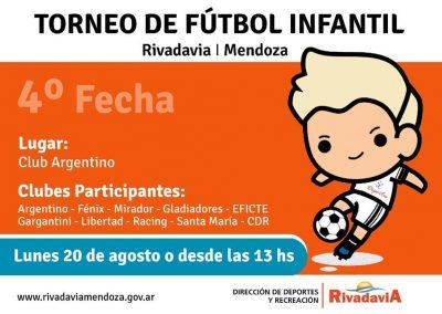 Se disputa la cuarta fecha del Torneo de fútbol infantil