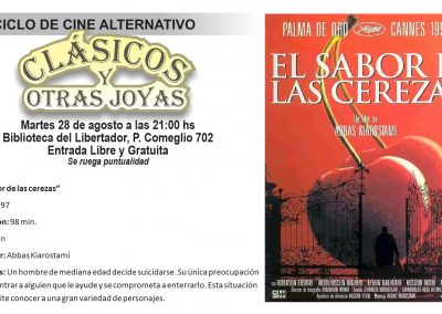"""Cine alternativo """"Clásicos y Otras Joyas"""""""