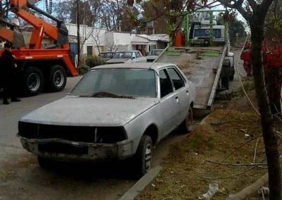 Retiro de vehículos abandonados en el departamento