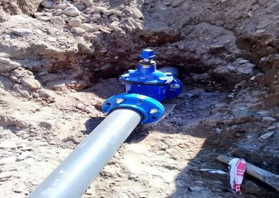 Empalmes de red agua potable en Reducción