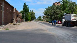 Carpeta asfaltica calle Galigniana